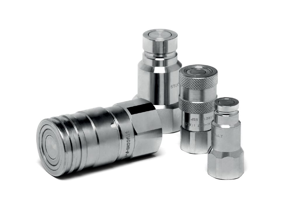 flat face hydraulic coupler